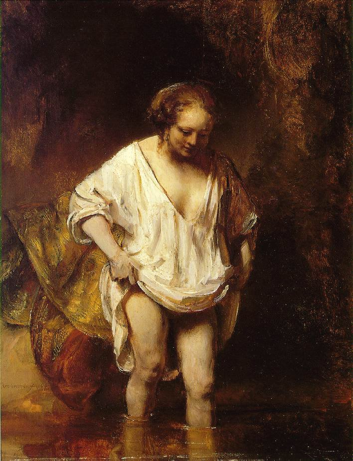 woman-bathing-in-stream-by-rembrandt